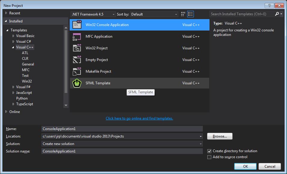 SFML Template project - Visual Studio Marketplace
